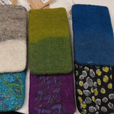 Felted Wool Phone Pouch-ACCESSORIES / PURSES & WALLETS-Merino Industry Pvt. Ltd (NEP)-Cotton-Black-The Outpost NZ