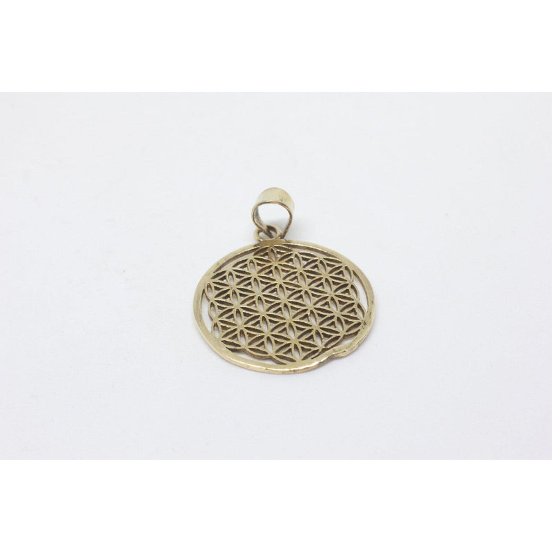 Filomena Brass Pendant-JEWELLERY / NECKLACE & PENDANT-Gopal Brass Man (IND)-The Outpost NZ
