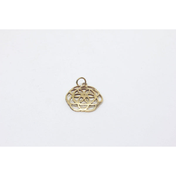 Fiona Brass Pendant-JEWELLERY / NECKLACE & PENDANT-Gopal Brass Man (IND)-The Outpost NZ