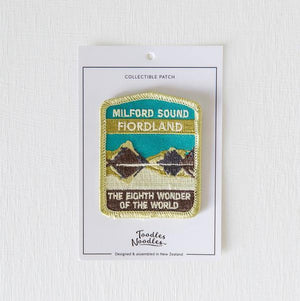 Fiordland Kiwiana Patch-NZ ACCESSORIES-Live Wires (NZ)-The Outpost NZ