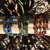 Five Strand Bracelet-JEWELLERY / BRACELET-Stone Beads (THA)-Green-The Outpost NZ