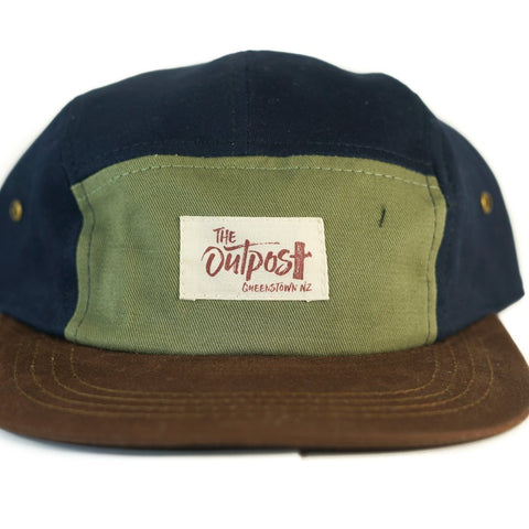 FivePanel Cap-ACCESSORIES / HATS-Long Ma Lae (THA)-Brown Blue-The Outpost NZ