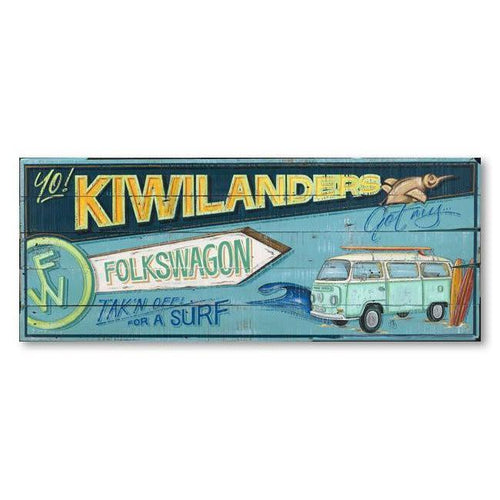 Folkswagon Canvas By Jason Kelly-NZ ART-Image Vault ltd (NZ)-The Outpost NZ