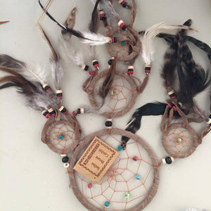 Four Circled Dreamcatchers-HOMEWARES-Stone Beads (THA)-Turquoise-The Outpost NZ