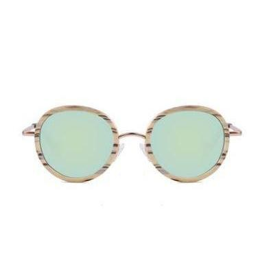 Framed Round Sunglasses-ACCESSORIES / SUNGLASSES-Lonsy Eyewear International Co.Ltd (CHI)-Gold-The Outpost NZ