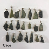 Greenstone Silver Pendants-JEWELLERY / NECKLACE & PENDANT-Not specified-XS-Cage-The Outpost NZ