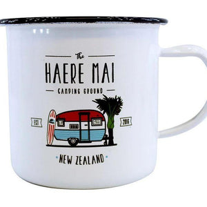 Haere Mai Enamel Mug-NZ HOMEWARES-Moana Road (NZ)-The Outpost NZ