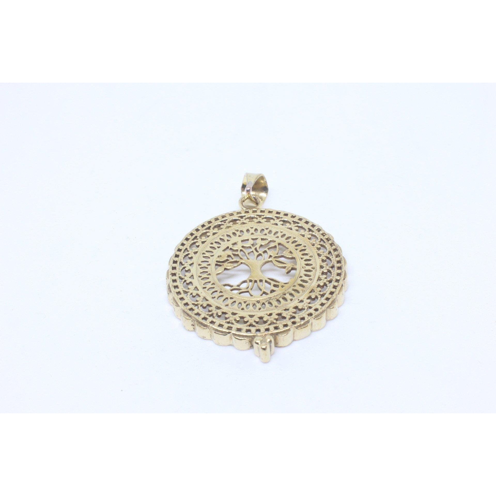 Handan Brass Pendant-JEWELLERY / NECKLACE & PENDANT-Gopal Brass Man (IND)-The Outpost NZ
