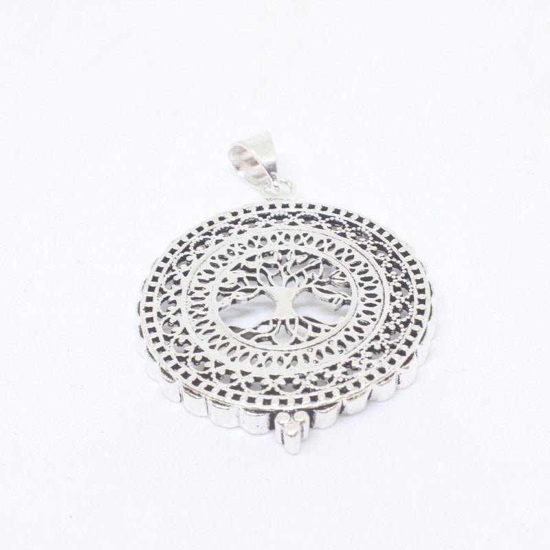 Handan Silver Plated Pendant-JEWELLERY / NECKLACE & PENDANT-Gopal Brass Man (IND)-The Outpost NZ