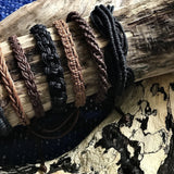 Handwoven Cotton Bracelet-JEWELLERY / BRACELET-Wattanaporn (THA)-Brown/Black-The Outpost NZ