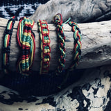 Handwoven Cotton Bracelet-JEWELLERY / BRACELET-Wattanaporn (THA)-Rasta-The Outpost NZ