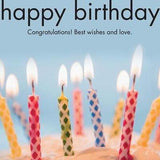 Happy Birthday Candles Card-NZ CARDS-Affirmations (NZ)-The Outpost NZ