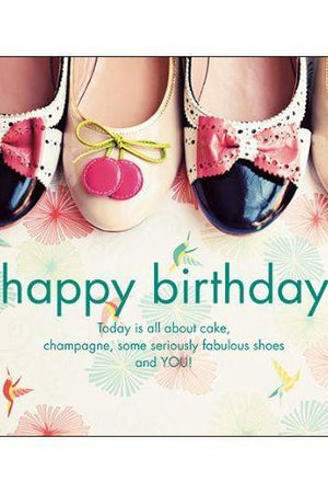 Happy Birthday Shoes Card-NZ CARDS-Affirmations (NZ)-The Outpost NZ