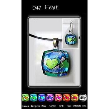 Heart Cubism Square-NZ JEWELLERY-TracyH (NZ)-Green-Earrings-The Outpost NZ