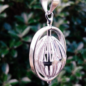 Heleentje Silver Plated Pendant-JEWELLERY / NECKLACE & PENDANT-Gopal Brass Man (IND)-The Outpost NZ