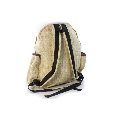 Hemp Teardrop Backpack-ACCESSORIES / BAGS-Thamel Handicraft Collection (NEP)-The Outpost NZ