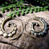 Henna Spiral Earring-JEWELLERY / EARRINGS-Not specified-The Outpost NZ