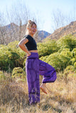 Kickflare Pants-CLOTHING / PANTS-Big Colour (THA)-Flower Mandala-Purple-The Outpost NZ