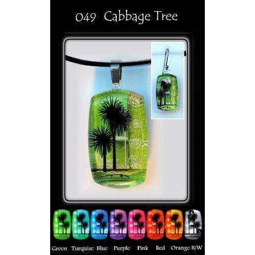 Kiwana Cabbage Tree Rectangle-NZ JEWELLERY-TracyH (NZ)-Green-Earrings-The Outpost NZ