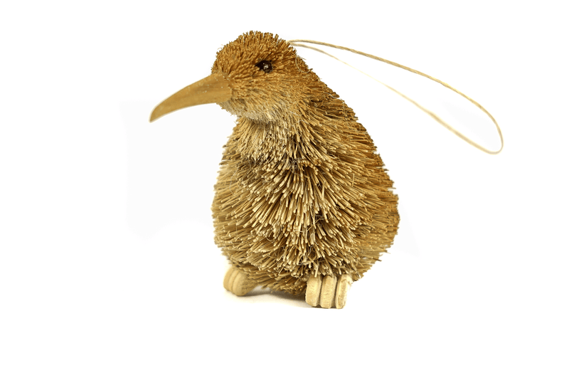 Kiwi Bristle Ornament-NZ GIFT-Ogilvies (NZ)-Natural-The Outpost NZ