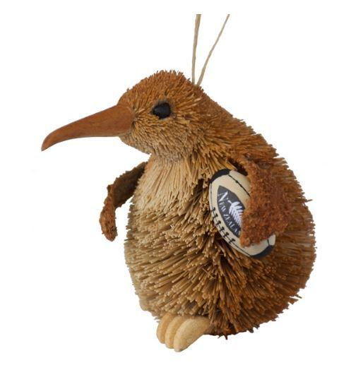 Kiwi Bristle Ornament-NZ GIFT-Ogilvies (NZ)-Rugby-The Outpost NZ