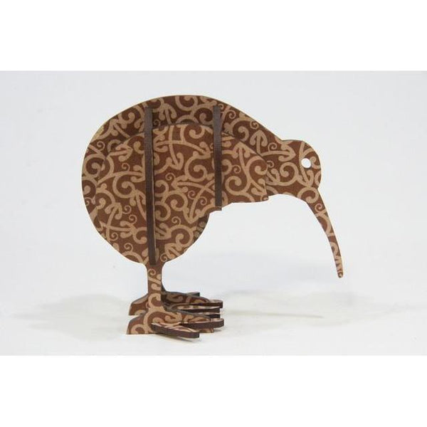 Kiwi Square Flatpack-NZ HOMEWARES-Abstract Designs (NZ)-Brown Koru-The Outpost NZ