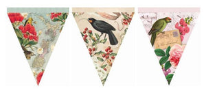 Kiwiana Bunting-NZ HOMEWARES-Live Wires (NZ)-NZ Birds Vintage-The Outpost NZ
