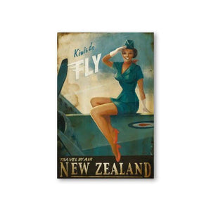 Kiwis Do Fly Canvas By Paul Ny,NZ ART,The Outpost NZ The Outpost NZ, New Zealand, outpost, Queenstown