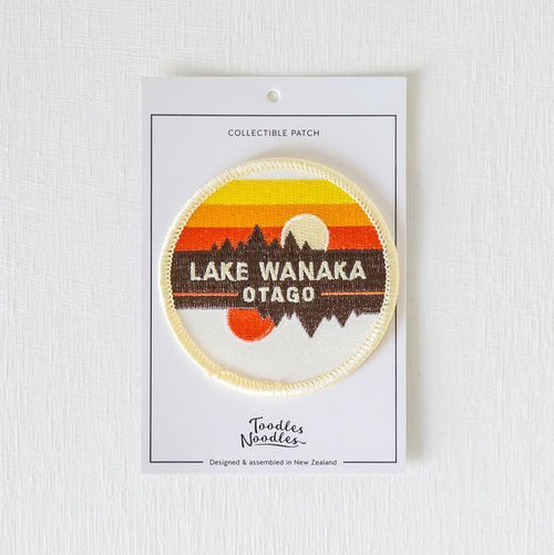 Lake Wanaka Kiwiana Patch-NZ ACCESSORIES-Live Wires (NZ)-The Outpost NZ