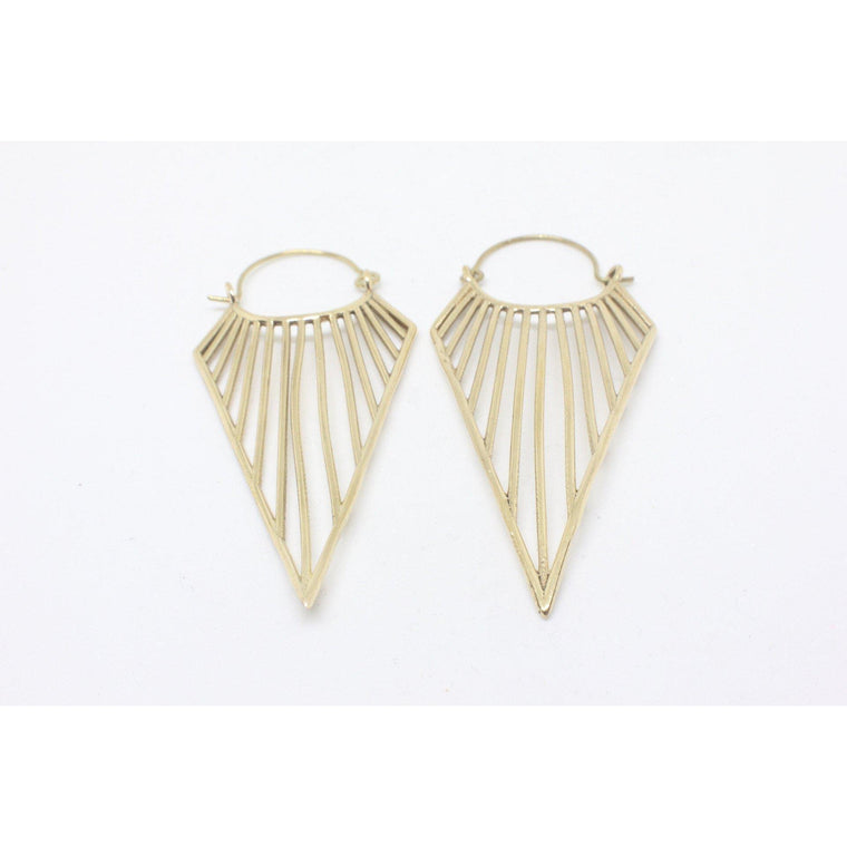 Lanakila Brass Earrings
