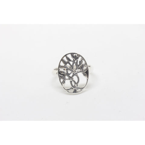 Lea Tree Silver Ring-JEWELLERY / RINGS-Silver Lion (THA)-52-The Outpost NZ