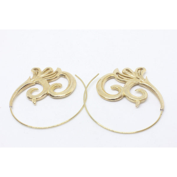Leandra Brass Earrings-JEWELLERY / EARRINGS-Gopal Brass Man (IND)-The Outpost NZ