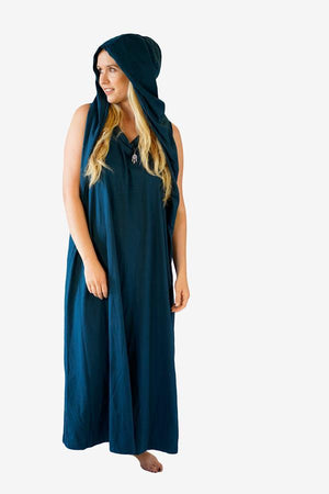 Leia Hooded Dress-CLOTHING / DRESS-Zeek (THA)-Teal-The Outpost NZ
