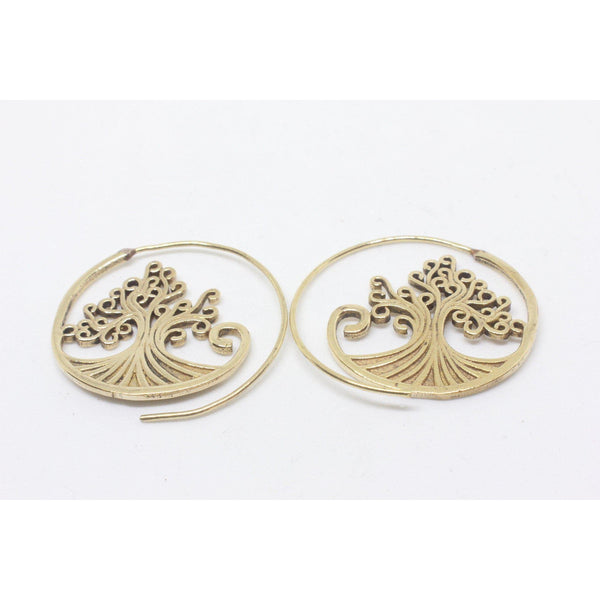 Leopolda Brass Earrings-JEWELLERY / EARRINGS-Gopal Brass Man (IND)-Large-The Outpost NZ