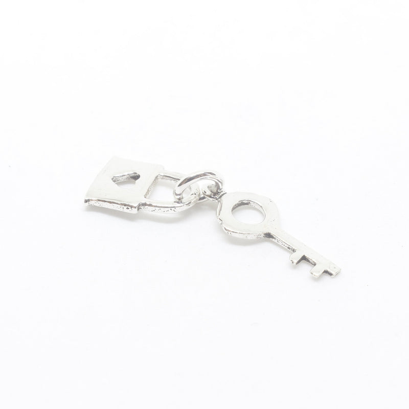 Lock and Key Silver Charm-JEWELLERY / NECKLACE & PENDANT-Mimi Silver (THA)-The Outpost NZ