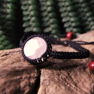 Macrame Stone Bracelet-JEWELLERY / BRACELET-Kaari's Jewellery (IMPORT)-Rose Quartz-The Outpost NZ