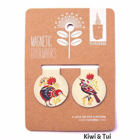 Magnetic Bookmark Set-NZ STATIONERY-TofuTree (NZ)-Kiwi & Tui-The Outpost NZ