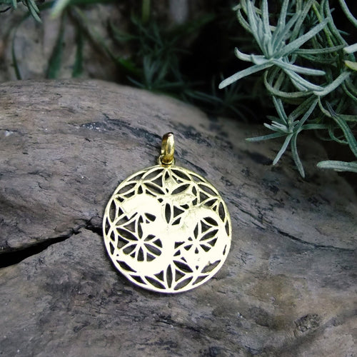 Mantra Brass Pendant-JEWELLERY / NECKLACE & PENDANT-Not specified-The Outpost NZ