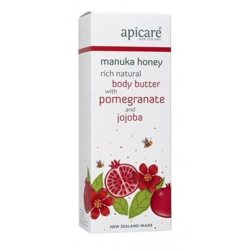 Manuka Honey Rich Natural Body Butter - Pomegranate 200g-NZ SKINCARE-Honey & Herbs (NZ)-The Outpost NZ