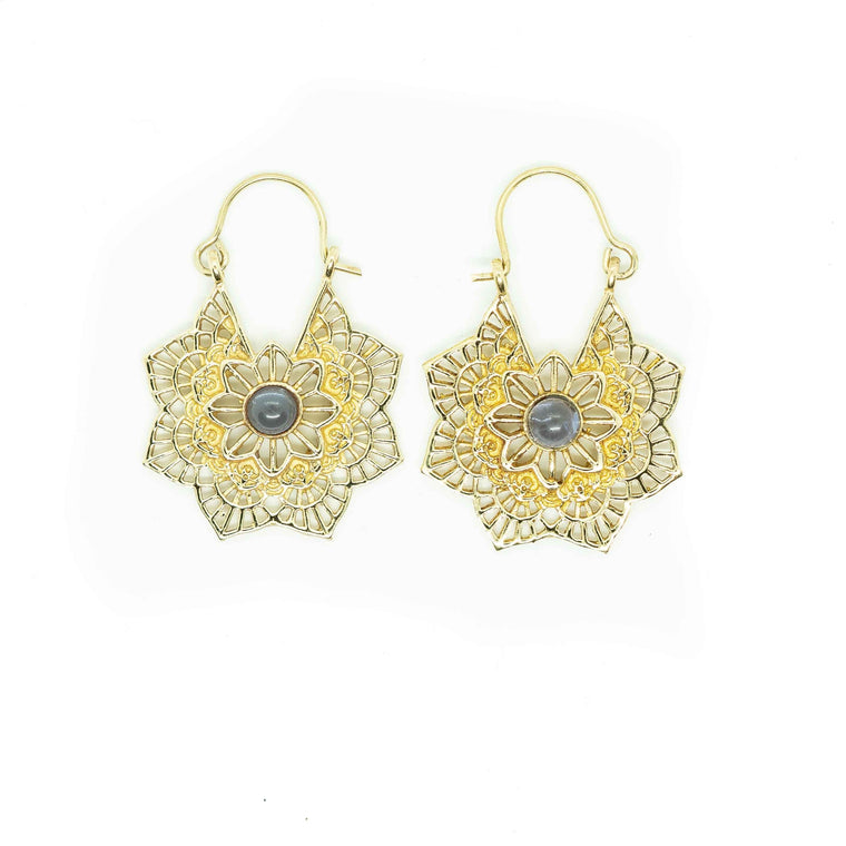 Maya Brass Earrings