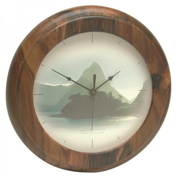 Milford Sound Rimu Clock-NZ HOMEWARES-iNZspired-The Outpost NZ