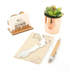 Mini Set-NZ HOMEWARES-Crystal Ashley (NZ)-NZ Map-Mirror-The Outpost NZ