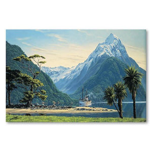 Mitre Peak View Canvas By Peter Morath,NZ ART,The Outpost NZ The Outpost NZ, New Zealand, outpost, Queenstown
