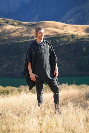 Mountain Poncho-CLOTHING / PONCHO-The Look Fashion (NEP)-Fire Charcoal-The Outpost NZ