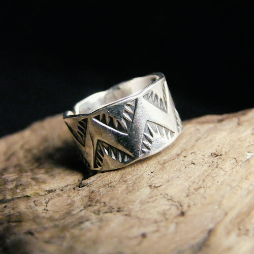 Mountain Wide Silver Ring-JEWELLERY / RINGS-Jewelery Center (THA)-56-The Outpost NZ