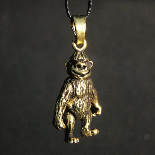 Movable Gorilla Pendant-JEWELLERY / NECKLACE & PENDANT-Not specified-Brass-The Outpost NZ