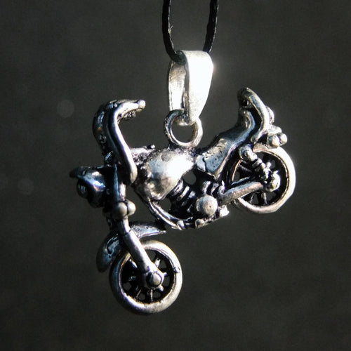 Movable Motorbike Pendant-JEWELLERY / NECKLACE & PENDANT-Not specified-White Metal-The Outpost NZ
