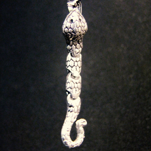 Movable Snake Pendant-JEWELLERY / NECKLACE & PENDANT-Not specified-White Metal-The Outpost NZ