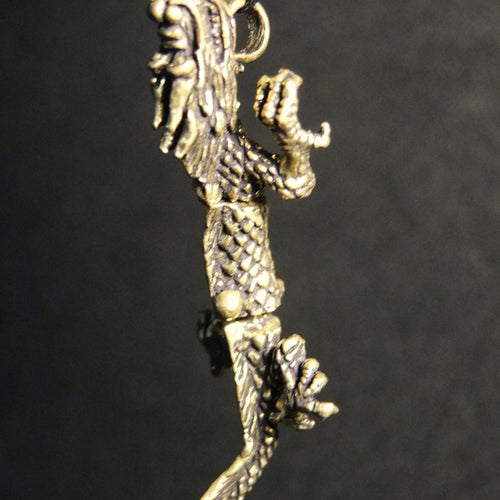 Movable Traditional Dragon Pendant-JEWELLERY / NECKLACE & PENDANT-Not specified-Brass-The Outpost NZ