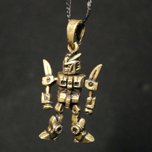 Movable Transformer Pendant-JEWELLERY / NECKLACE & PENDANT-Not specified-Brass-The Outpost NZ